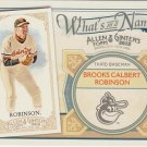2012 Topps Allen and Ginter What's in a Name #WIN35 Brooks Calbert Robinson