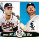 2013 Topps Heritage Then and Now #MD Eddie Mathews/Adam Dunn
