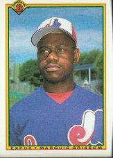 1990 Bowman #115 Marquis Grissom RC