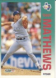 1992 Fleer 310 Terry Mathews