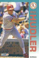 1992 Fleer 581 Rex Hudler