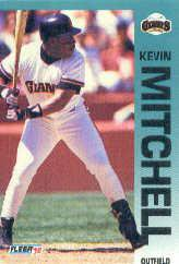 1992 Fleer 644 Kevin Mitchell