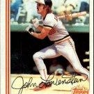 1982 Topps #747 John Lowenstein