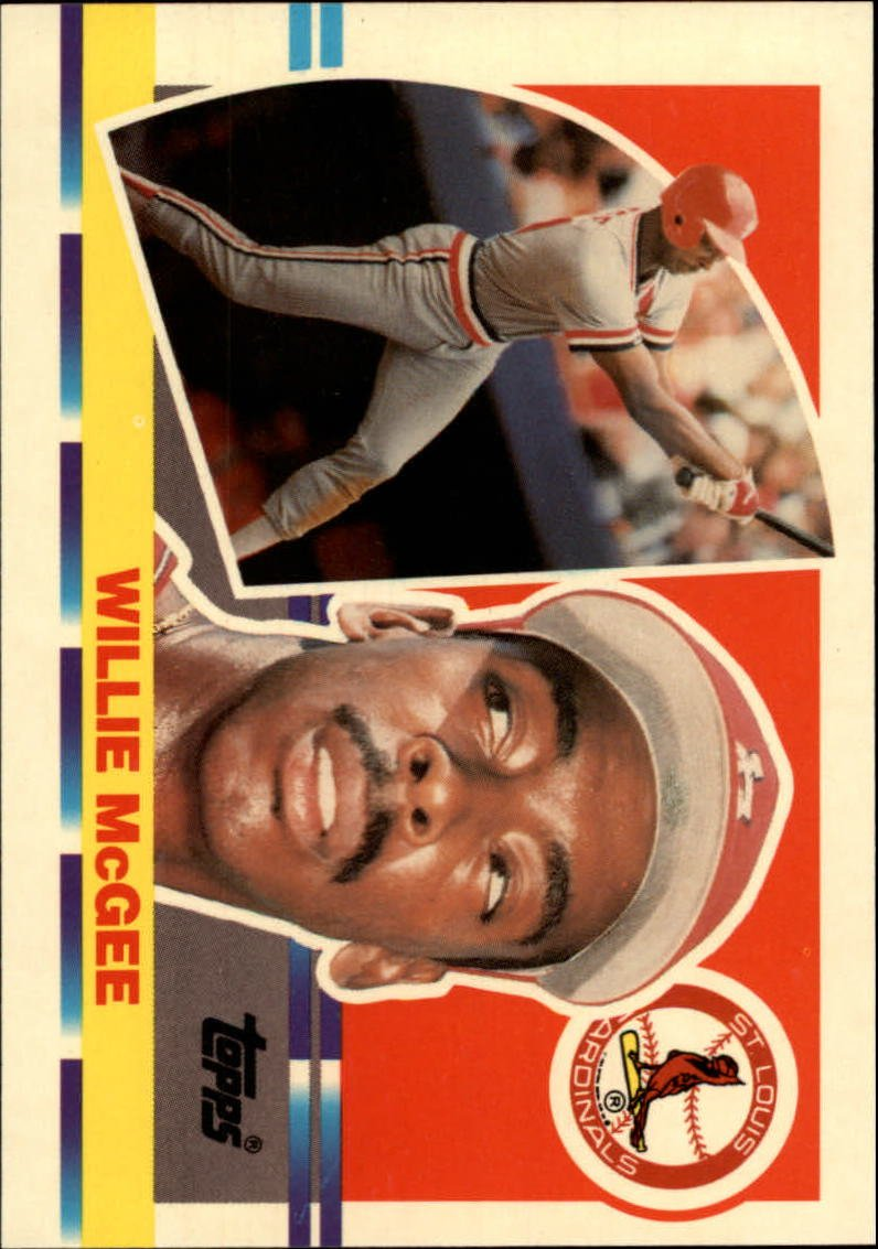 1990 Topps Big 158 Willie McGee