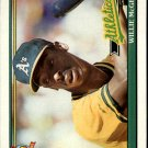 1991 Topps 380 Willie McGee