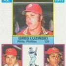 1976 Topps #195 NL RBI Leaders/Greg Luzinski/Johnny Bench/Tony Perez