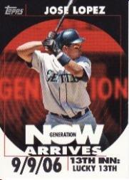 2007 Topps Generation Now Vintage GNV35 Jose Lopez