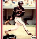 1981 Topps 167 Terry Whitfield
