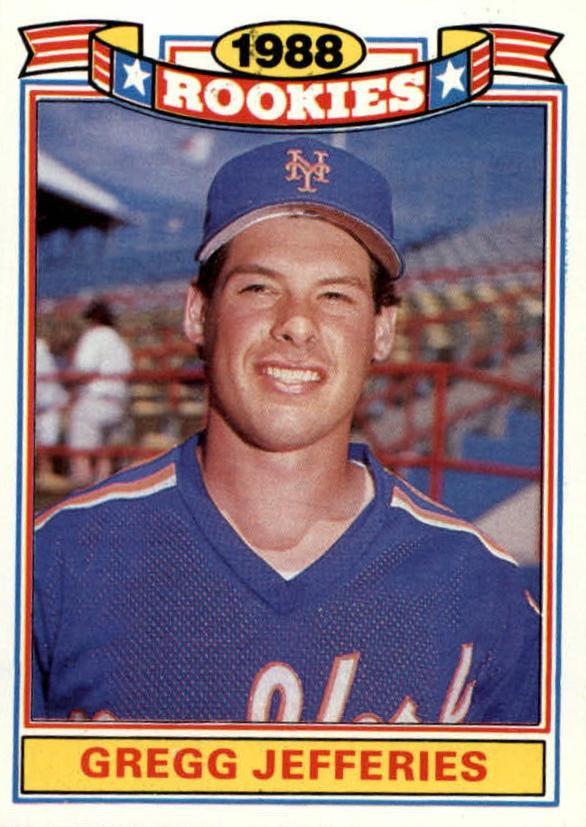 1989 Topps Rookies 13 Gregg Jefferies