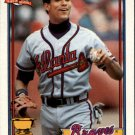 1991 Topps 329 Dave Justice UER