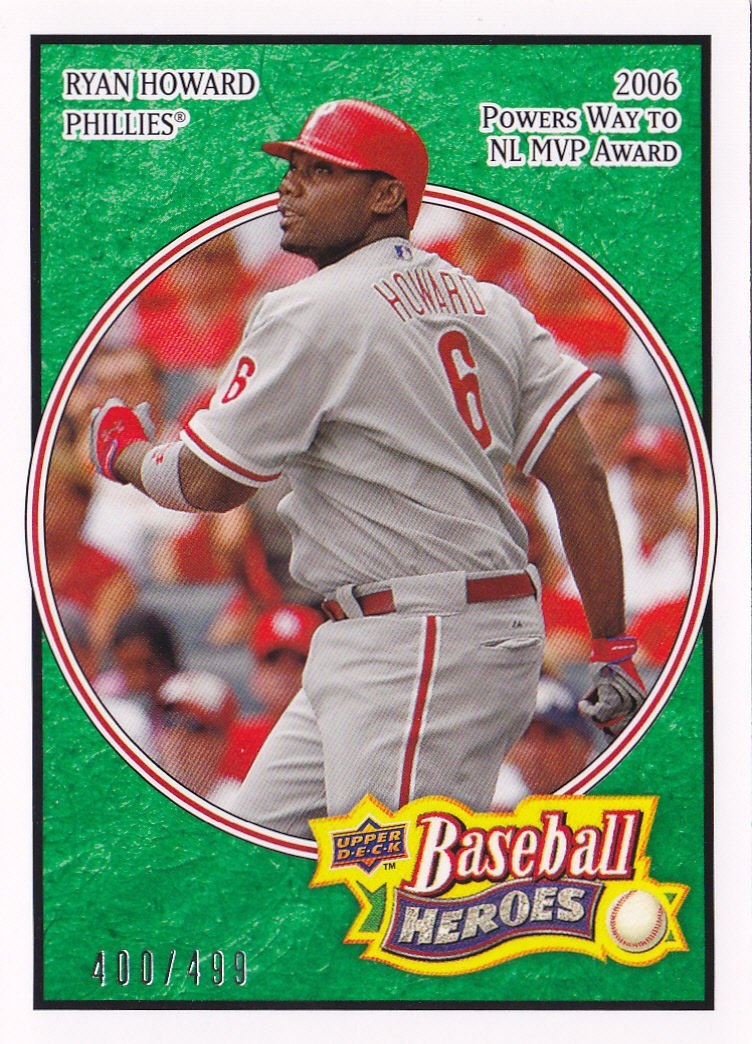 2008 Upper Deck Heroes Emerald 133 Ryan Howard
