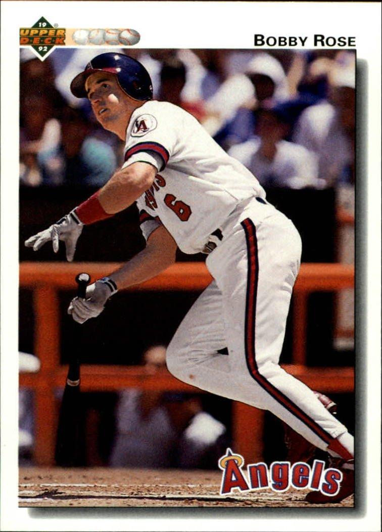 1992 Upper Deck 611 Bobby Rose
