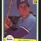 1982 Donruss 299 Dale Murphy