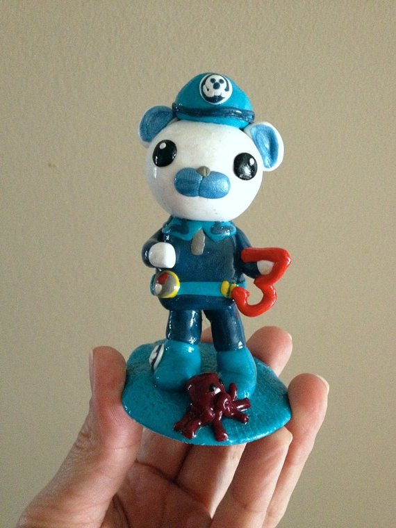 Octonauts Captain Barnacles Cake Topper Made To Order