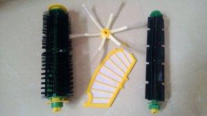 bristle brush flexible beater side brush Filter for irobot roomba 500 cleaner