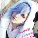 UN-GO Inga Brack Short Light Purple Anime Cosplay  Wig