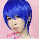 vocaloid kaito short royalblue cosplay wig