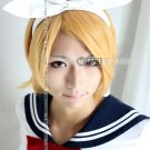 High Quality Vocaloid Kagamine Magnet Rin Len mixed golden Cosplay Short Wig Party Hair