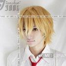 Usui Takumi Short  Mixed golden Straght Wig Party Hair