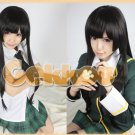Hell girl Enma Ai Black Long Straight Cosplay Hair Wig 80cm