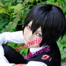 Reborn Short Hibari Kyoya Short Cosplay Black Wig