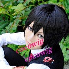 Reborn Short Hibari Kyoya Short Cosplay Black Wig
