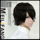 Hitman Reborn Lambo Black Short Party Hair Full Cosplay Wig