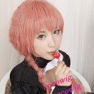 New Style Inu x Boku SS Roromiya Karuta Pink Braided Cosplay Party Hair Full Wig