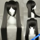 Vocaloid Zatsune Miku BRS Black Rock Shooter cosplay Wig