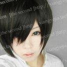 Reborn Short Hibari Kyoya Short  Black Cosplay Wig