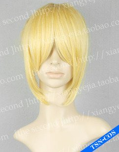 High Quality Vocaloid Kagamine Len Rin Mixed Golden Cosplay Party Full Hair Wig