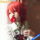 Vocaloid AKAITO /Ouran High School Host Club Kaoru Hitachiin Red Costome Party Hair Cosplay Wig