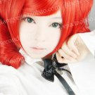 High Quality Vocaloid Teto Kasane Red Cosplay Wig 2 clips ponytails