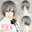 Hot sell !  Silver Gray Short Cosplay wig