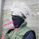 Naruto Kakashi Hatake Anime Cosplay Short White Bangs Hair Wig