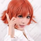 Final Fantasy Type-0 Cater Cosplay Costume Short Wig Dark Orange