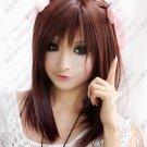 Hot Sell! Angel Beats!Yuri Nakamura Brown Cosplay  Wig  45cm