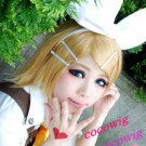 Vocaloid Kagamine Magnet Rin mixed golden Cosplay Short Wig Party Hair Wig