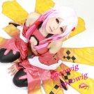 Guilty Crown Inori Yuzuriha Icepink Gradient Color Anime Cosplay  party Wig