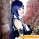 Inu x Boku SS Shoukiin Kagerou 100cm Straight Blue Mix Black Cosplay Hair Wig