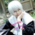 Bleach Ichimaru Gin Short White Straight Cosplay Wigs Costume party wig