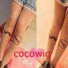 HARAJUKU tatoo print socks stockings invisible ultra-thin incarcerators pantyhose