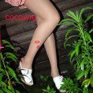 Woman  Fashion Sexy Tattoo lipstick print Pantyhose & Tights Leggings  Stocking