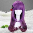 Japanese Harajuku Zipper Purple Gradient 70cm Lolita Kawaii Cosplay Party Wig