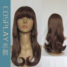 Japanese Harajuku Zipper lolita Lovely Daily Curly Wavy Cosplay Party Wig
