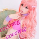 Charming Hot Sexy Long light pink curly Lady's Cosplay Hair Full Wig