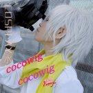 NEW Dramatical Murder DMMD Clear short silver white cosplay wig