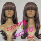 Japanese Harajuku Zipper Amo Lolita color gradient curly party full wig