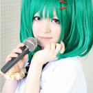 Ranka Lee Macross Frontier F Dark Green Straight cosplay Party Wig +2 clips