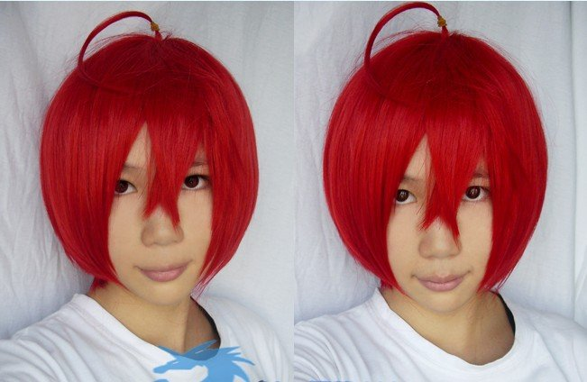 Starry�Sky Yoh Tomoe dark red short cosplay wig